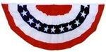 6 foot x 3 foot Patriotic Cotton Fabric Bunting