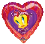 18in Tweety Burning Love