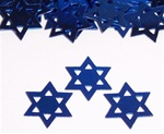 .5 oz Star of David BLUE Confetti