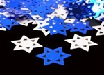 .5 oz Star of David BLUE & SILVER Confetti