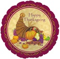 18 inch Thanksgiving Cornucopia Foil Balloon