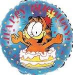 18 inch Garfield Happy Birthday Cake