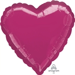 18 inch METALLIC FUCHSIA Heart Shape