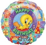 28 inch Sing-A-Tune Tweety Happy Birthday
