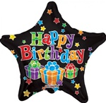 18 inch Happy Birthday Big Dots BLACK