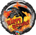 18 inch Hiccup & Toothless Birthday  Balloon