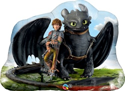 33 inch Hiccup & Toothless foil super shapeBalloon