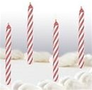2 1/2 inch Pink Stripe Birthday Candle