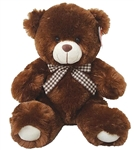 12 inch Dark Brown  Bear with Bow