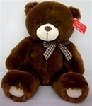 14 inch Dark Brown Bear with Bow