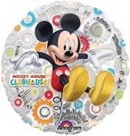 18 inch Mickey Clubhouse Clearly Metallic