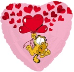 18 inch Garfield & Pooky Love Heart Balloon
