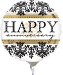 9 inch Happy Anniversary Damask