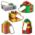 5 inch Mini Christmas Present Cutouts