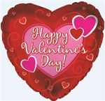 9in Happy Valentine's Day Three Big Hearts