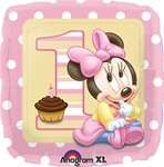18 inch Disney Minnie 1st Birthday Girl