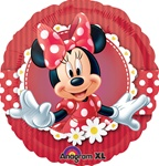 18 inch Mad About Minnie Round foil balloon,is so cute kids of all ages will love it.  Minnie looks wonderful on new portrait foil balloon. These foil (aka. mylar) balloons are printed on Anagrams Xtralife balloon film for extended .float times.  Enjoy!