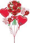 32 inch Happy Valentine's Day Red Roses Bouquet