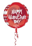 16 inch Happy Valentine's Day Red and White ORBZ