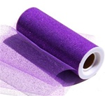 Glitter Tulle PURPLE 6in x 10yd