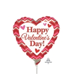 9in Happy Valentine's Day Chevron