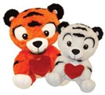 10 inch Tiger Holding A Red Heart