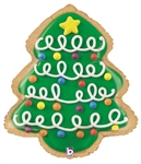 27 inch Christmas Tree Cookie Foil Balloon