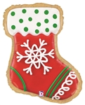 27 inch Christmas Stocking Cookie Foil Balloon