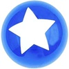 11 inch Qualatex STAR Top Print SAPPHIRE BLUE