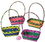 10 inch Bamboo Multicolor Rectangular Baskets