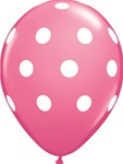 11 inch Qualatex Big Polka Dots ROSE