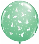 3 foot Qualatex Round Bunnies-A-Round Pastel Assortment