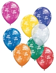 5in Qualatex Round HAPPY BIRTHDAY-A-Round Jewel Assortment