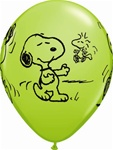 11 inch Qualatex Snoopy & Woodstock Assorted