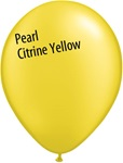 11in PEARL CITRINE YELLOW Qualatex Radiant Pearl
