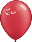 11in PEARL RUBY RED Qualatex Radiant Pearl