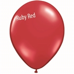 11in RUBY RED Qualatex Jewel