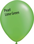11in PEARL LIME GREEN Qualatex Radiant Pearl