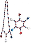 Red, White and Blue Star Beads