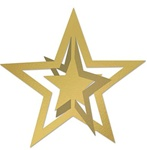 12in 3D Foil Star GOLD