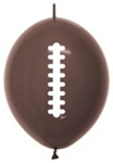 12 inch Link-O-Loon Deluxe CHOCOLATE BROWN Football