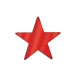 9in Die Cut Foil Star RED