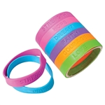 Rubber Bracelets with Sayings