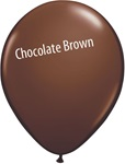 11in CHOCOLATE BROWN Qualatex Jewel