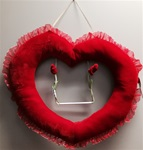 24 inch Plush Heart with Hanger and Swing