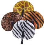 10 inch Safari Print Paper Folding Fan
