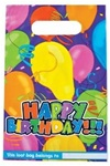 10 inch x 6.5 inch Happy Birthday Loot Bag