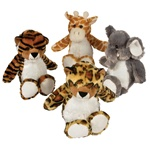 11 inch Safari Animal Plush,