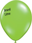 11in LIME GREEN Qualatex Jewel