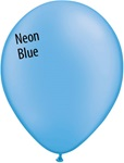 11in NEON BLUE Qualatex